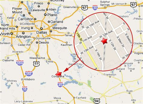 where is corsicana texas on the map view 860 corsicana wsource