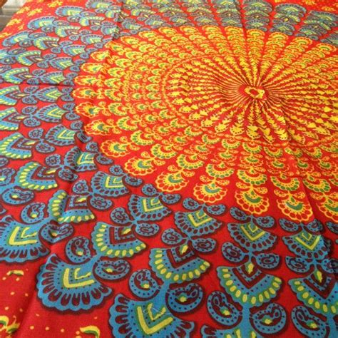 colorful tapestry hippie tapestry fabric colorful bohemian mandala pattern