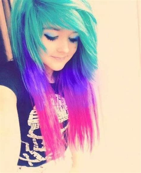 colorful haircut 10 cute emo hairstyles for girls faceshairstylist com