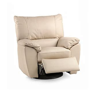 natuzzi armchairs natuzzi editions 174 trento taupe leather swivel recliner armchair herberger s