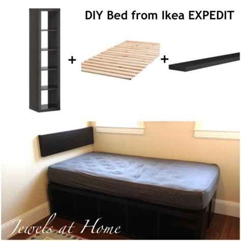 compact beds ikea expedit hack compact storage bed jewels at home
