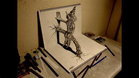 3d Sketches by 3d Drawing How To Draw 3d Residents On The