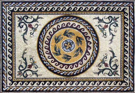 Roman Marble Mosaic Tile Stone Art Floor Wall Tabletop