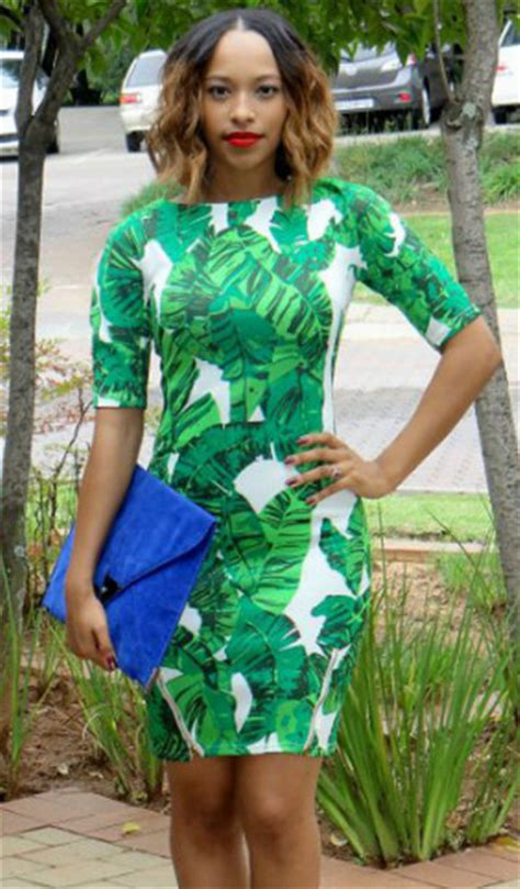 Mini Dress Gaun Bodycon Green Tropical Floral L Import Original dress green tropical fashion girly summer