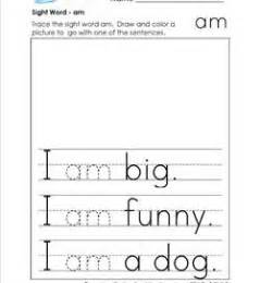 sight word practice worksheets trace and say sight words