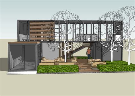 sketchup plans for container house studio design