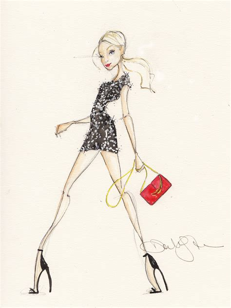 On Our Radar Stylecom Auctions Fashion Illustrations by Lulu S And Dallas Shaw Get Lulus