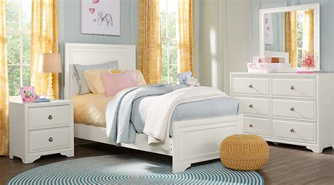 full bedroom belcourt jr white 5 pc full panel bedroom teen bedroom