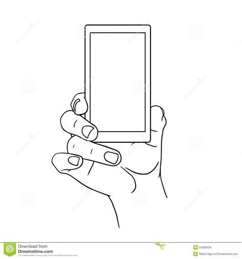 doodle draw windows phone partageant la vue de mobile et vecteur