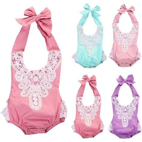 Newborn Infant Baby Lace Romper Bodysuit Jumpsuit Sunsui newborn infant baby jumpsuit bodysuit floral lace romper clothes sunsuit ebay