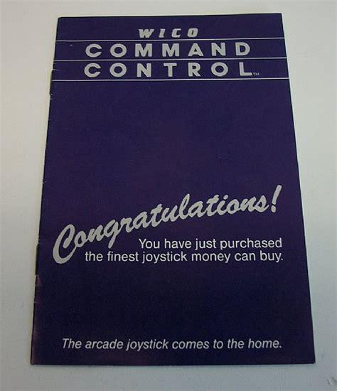 Wico Command Control Arcade Sticks User Manual
