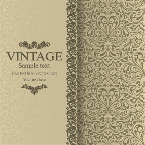 wallpaper vintage vector design background floral vintage backgrounds vector 01 vector background