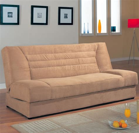 modern convertible sofa bed modern microfiber convertible sofa bed 500781 tan