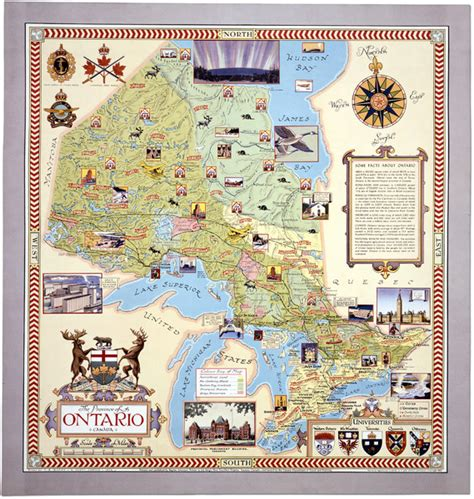 tourist map of canada ontario tourist map ontario canada mappery