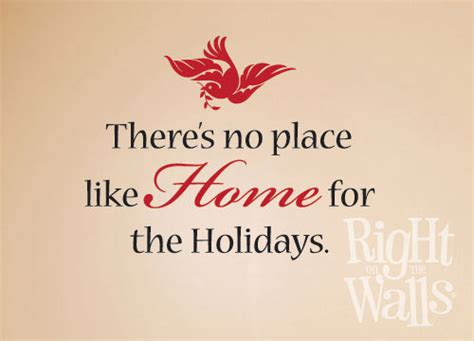 home for the holidays wall decal vinyl stickers