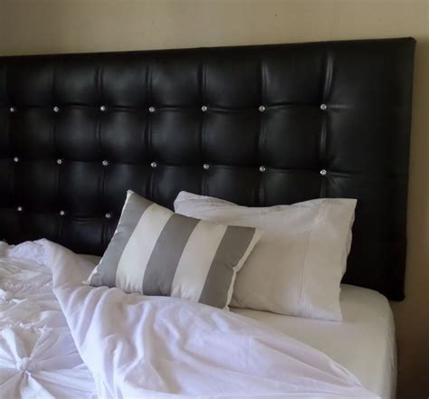 king size black faux leather tufted upholstered headboard