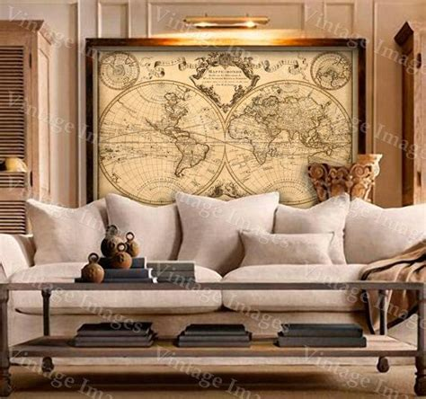 map home decor l isle s 1720 old world map historic map antique style