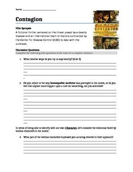 Contagion Worksheet Answers by Contagion Guide With Classroom Questions By Education Orator