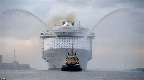 largest ship in the world harmony of the seas makes titanic look a minnow as it