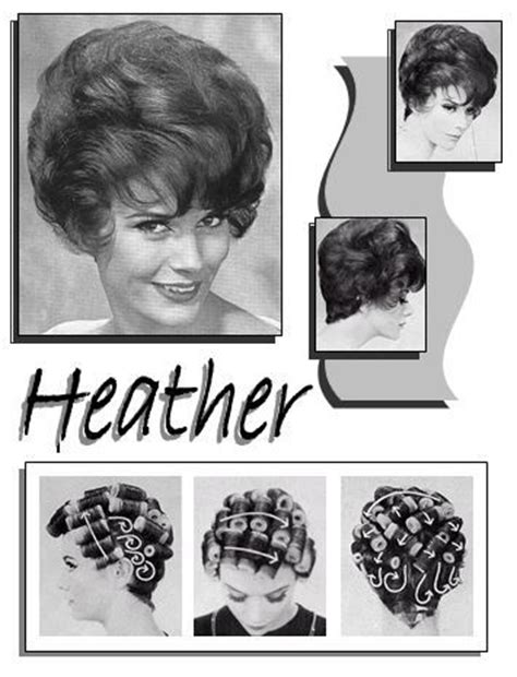 pattern for roller set heather vintage hair howtos pinterest