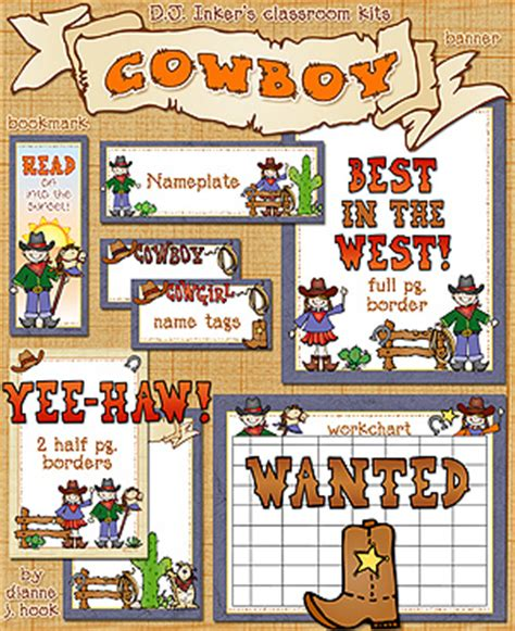 printable western bookmarks give your classroom a western theme with these borders