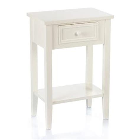 Table De Nuit Blanc by Table De Chevet Charme 67cm Blanc