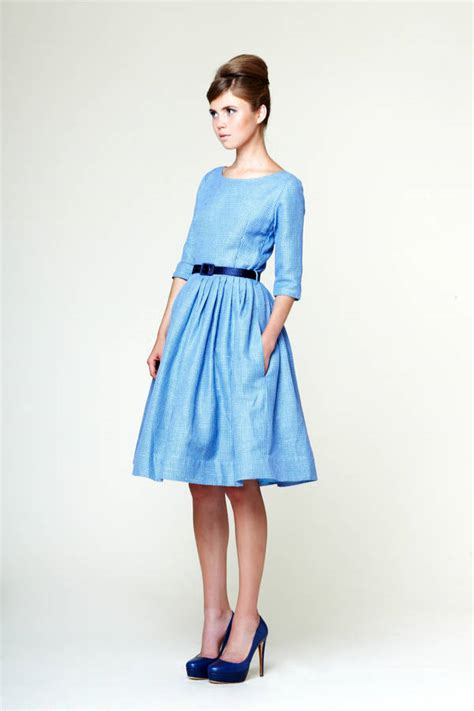 bridesmaid midi dress with pleated skirt by mrs
