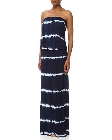 Pakaian Letty Hoodie Stripy White Navy Dress lyst fabulous sydney strapless tie dye striped maxi dress navywhite in blue