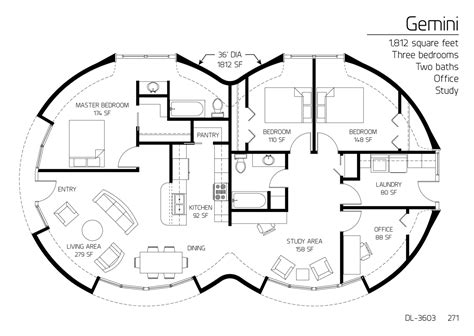 monolithic dome homes floor plans floor plan dl 3603 monolithic dome institute