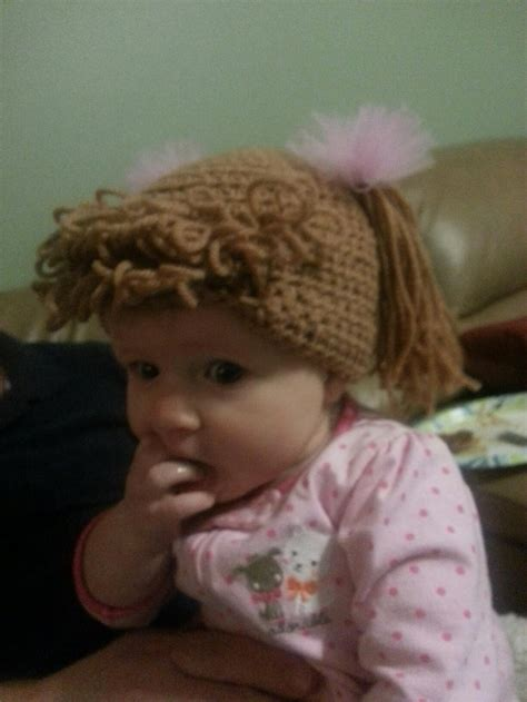 cabbage patch hat crochet attach hair cabbage patch crochet hat easy to make follow regular