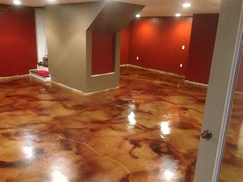 Concrete Stained Floors by How To Acid Staining Basement Floors Direct Colors Inc