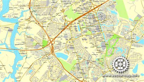 zip code map hton roads hton roads virginia us vector map v 2 adobe pdf editable
