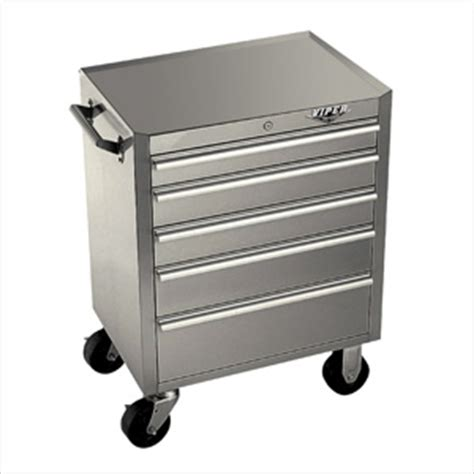 Stainless Steel Rolling Cabinet Viper V2603ssc Stainless Steel Tool Cabinet 5 Drawer