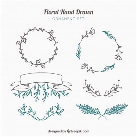 hand draw design elements vector decorative hand drawn elements vector free download