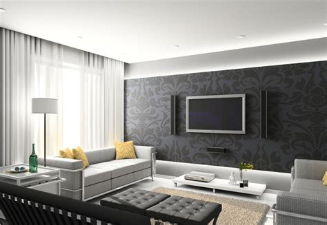 Living Room Decor With No Tv Gray Tv Wall Design For Living Room