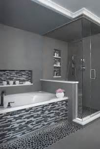 black and gray bathroom ideas 29 gray and white bathroom tile ideas and pictures