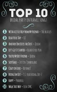 top 10 bridal entrance songs