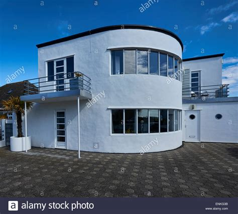 art deco house an art deco house at frinton on sea essex stock photo