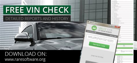 Free Vin Lookup Free Vin Check For Any Car Vin Cc 1 1 3 Software