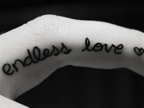 endless love tattoo finger tattoos page 38