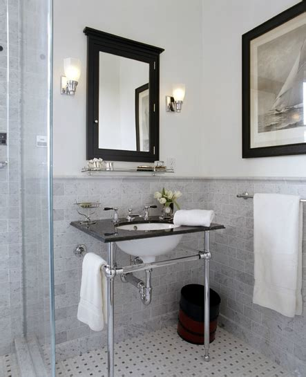 black mirror medicine cabinet transitional bathroom