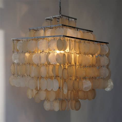 Shell Chandeliers For Sale Capiz Shell Chandelier By Verner Panton For Sale At 1stdibs