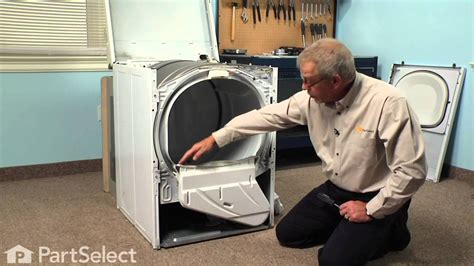 how to clean lint from inside dryer cabinet dryer repair replacing the lint duct assembly whirlpool