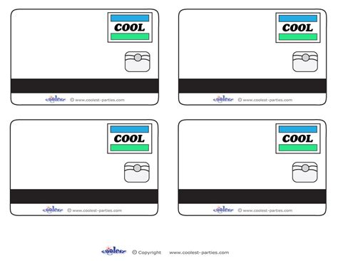 Credit Card Breakdown Template Blank Printable Cool Credit Card Thank You Cards For A Mall Scavenger Hunt Free Scavenger Hunt