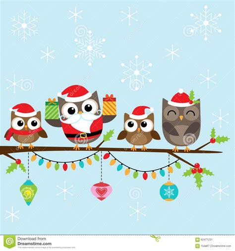 Family Natal I Do fam 237 lia do natal das corujas ilustra 231 227 o do vetor imagem