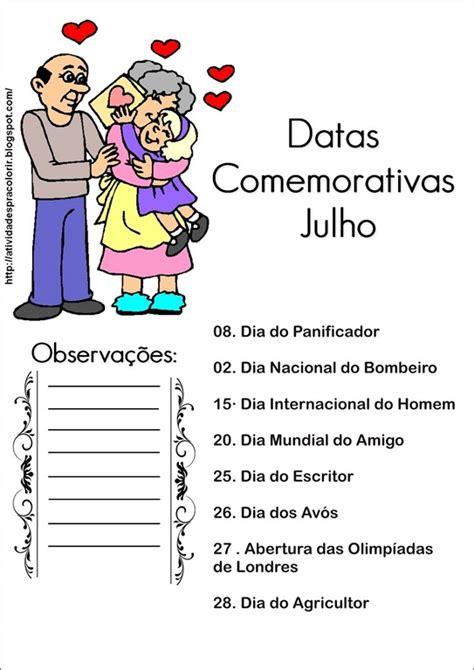 Calendario 9 De Julho Datas Comemorativas De Julho Para Imprimir