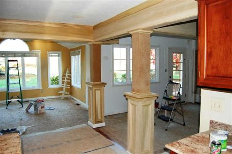 interior columns as interior columns custom trim wall removal and nook addition creates an open floor plan