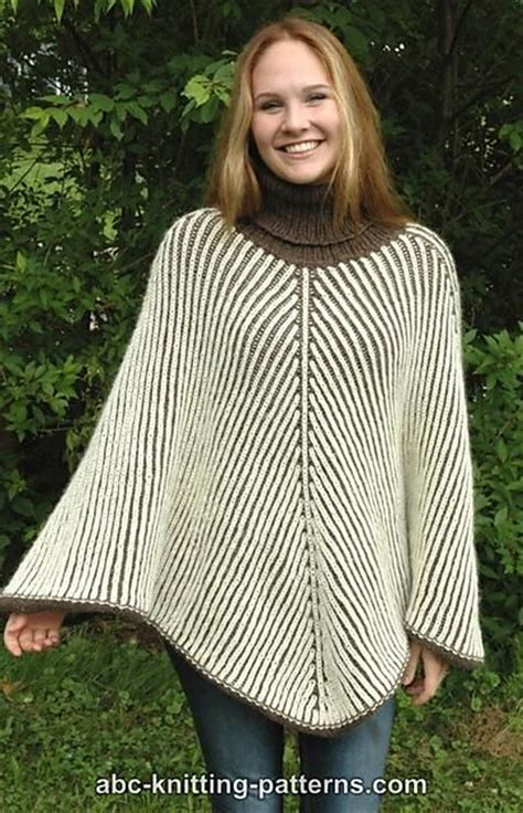 free knitting patterns for ponchos or capes knitting patterns galore reversible brioche poncho