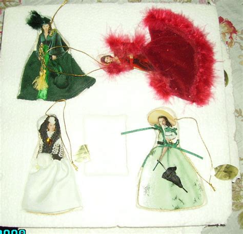 vintage gone with the wind christmas ornaments