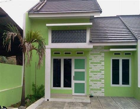 warna cat depan rumah warna hijau minimalis